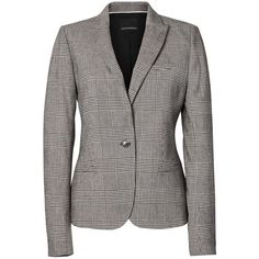Classic-Fit Plaid Blazer (47.225 HUF) ❤ liked on Polyvore featuring outerwear, jackets, blazers, tartan jacket, tartan blazer, plaid blazer, blazer jacket and plaid jacket