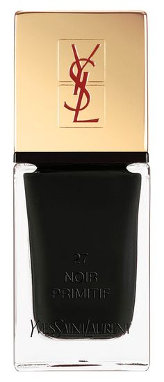 Feeling couture to the fingertips with this alluring, ultra-shiny and seriously edgy black Yves Saint Laurent nail polish.