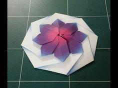 181.컵받침 종이접기.오월의장미.종이공예.origami. ***