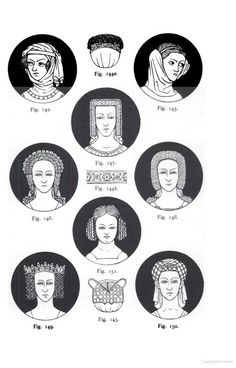 These Medieval Headdresses were much in evidence in the Early Tudor era.
