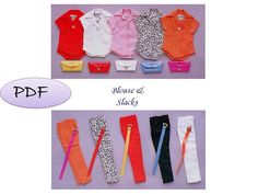 Reproduction for Barbie Blouse and Slacks  by GavryDollsPattern, $1.99
