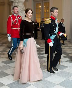 royalwatcher:  Danish New Year's Banquet for the military and other national organizations, January 7, 2015-Crown Princess Mary and Crown Prince Frederik