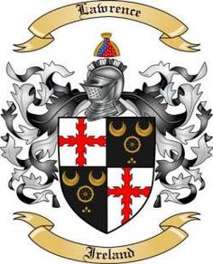 Lawrence Coat of Arms - Irish
