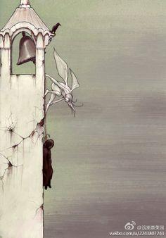 美国插画师Begemott 的超现实绘画作品,充满奇妙的想象和令人动容的故事。关于勇敢、挫败、温馨、孤独、爱……