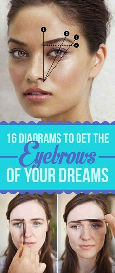 16 Eyebrow Diagrams To Get The Eyebrows Of Your Dreams! This explains it all..
