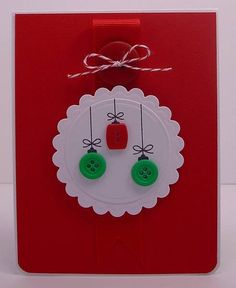 Simple Ornament Card by !Beth! - Cards and Paper Crafts at Splitcoaststampers