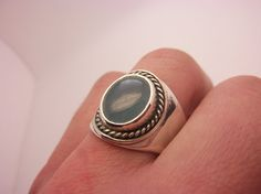 Aquamarine Ring Sterling Silver Blue Beryll Ring Handmade Design Birthstone Semi Precious Gemstone Ring