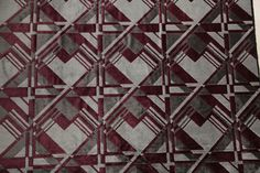 To buy @ Wessing. Art Deco Fabric, Velvet Upholstery Fabric, Fabric Patterns, Amsterdam, Art Nouveau, Carpet, Mid Century, Fabrics, Quilts