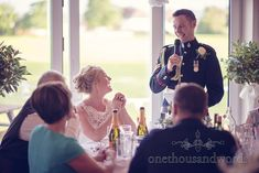 Groom's wedding speech in military uniform at Wareham Rugby Club wedding. Photography by one thousand words wedding photographers