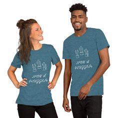 Crew Shirt, Tee Shirts, Shirt Men, Great Things Take Time, Simple Wardrobe, Travel Shirts, Camping Gifts, Deep Teal, Burn Calories