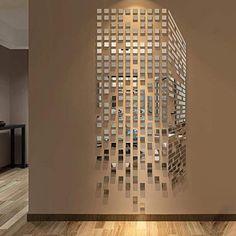 Mirror Wall Stickers, Cheap Wall Stickers, Window Stickers, Wall Mirror, Diy Stickers, Wall Decals, 3d Wall Art, Wall Art Decor, Bedroom Tv Wall
