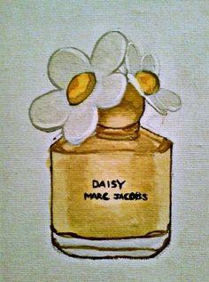 Marc Jacobs Daisy watercolor, via La Vie de La Mode