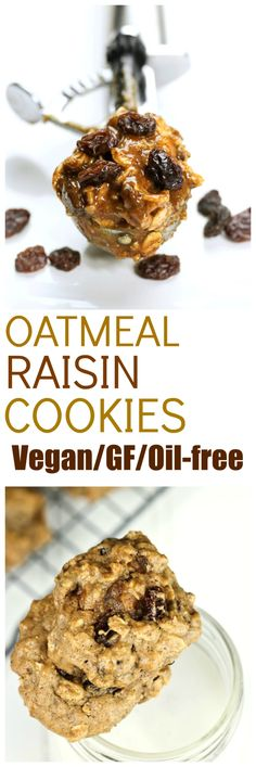 Classic Oatmeal Raisin Cookies just got a makeover. I've turned these classic cookies into a vegan, gluten-free and oil-free version. Oh, and super fast too. No creaming of butter and sugar, no beating eggs, no multiple bowls. This is all just basically thrown into 1 bowl, into the oven to bake for 10 mins and boom, done.