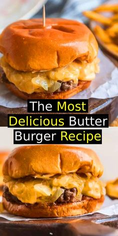 Most Delicious Butter Burger Recipe Butter Burgers are the most delicious burgers ever cooked and smothered in butter This Wisconsin Butter Burger recipe is everything y. Chef Recipes, Meat Recipes, Vegetarian Recipes, Recipies, Beef Casserole Recipes, Hamburger Recipes, Wisconsin Butter Burger Recipe, Gourmet Hamburgers, Good Burger