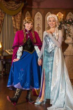 Disney Cosplay Meet Anna and Elsa in Princess Fairytale Hall at Magic Kingdom