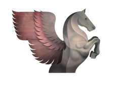 Andrew Lyons - Pegasus illustration.  I love the colour, texture and power of this illustration.