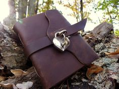 Silver Heart Locking Journal – Rogue Journals - @Bethany the perfect journal for you ;)
