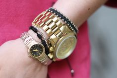 Loving the dainty watch paired with the boyfriend