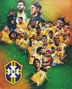 Read from the story Imagines/Reacts/Preferences CBF by FaniLittleCouto (Stéfani de Souza) with reads. Brazil Football Team, Football Art, Football Players, Football Boots, Neymar Jr, Cr7 Messi, Go Brazil, Brazil Flag, Team Wallpaper