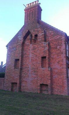 Historic Brick Chimney. Suffolk, England. bontool.com