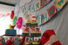 Dr. Seuss themed baby shower. Cute idea!