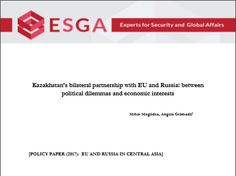 Kazakhstan's bilateral partnership with EU and Russia: between political dilemmas and economic interests Affair, Russia, Politics, My Love, Projects, Log Projects, Blue Prints