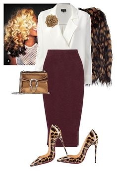 """""""Untitled #677"""" by cogic-fashion on Polyvore featuring Dries Van Noten, Giorgio Armani, By Malene Birger, Christian Louboutin and Gucci"""