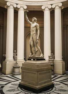 Statue of Antinous (c. AD a 'favourite' of the Roman emperor Hadrian… Ancient Romans, Ancient Greek, Lady Lever Art Gallery, Museum Art Gallery, Roman Sculpture, Roman Emperor, Classical Art, Greek Gods, Neoclassical