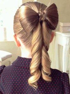 kız çocuk fiyonklu saç