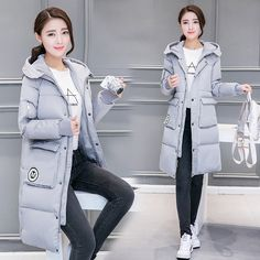 34.07$  Watch now - https://alitems.com/g/1e8d114494b01f4c715516525dc3e8/?i=5&ulp=https%3A%2F%2Fwww.aliexpress.com%2Fitem%2FWinter-Korean-the-cotton-padded-women-s-long-loose-bread-clothing-hooded-long-sleeved-cotton-padded%2F32745904589.html - Winter Korean the cotton-padded women's long loose bread clothing hooded long-sleeved cotton-padded jacket female Parkas MZ1078