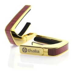 24k Gold Finish with Purple Heart Inlay