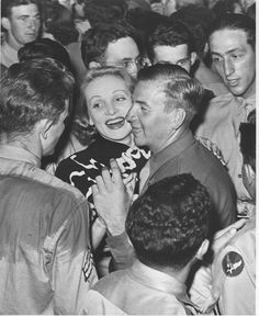 Historic Photograph of Marlene Dietrich At Hollywood Canteen