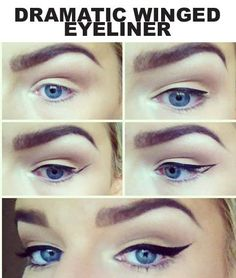 how to do winged eyeliner, going to attempt when I get gel liner