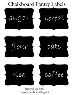 These free printable chalkboard pantry labels will make organizing your pantry easy.