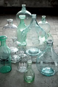 all clear vases