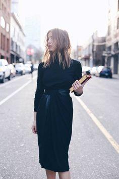 Black turtleneck with skirt