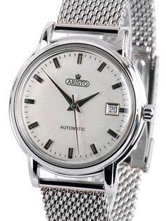 Aristo 4H101SMIL AristoCrat Silver Mesh Bracelet Swiss ETA Automatic Watch