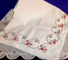 embroidery tablecloth - Google Search