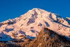 Winter on Mount Rainier, Washington, 2017 | #landscape #nature #mountrainier #snow #winter #photography #art #prints #wallart