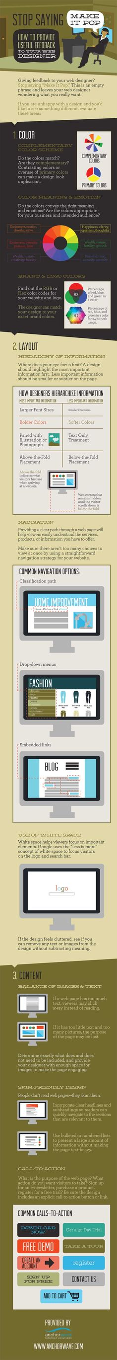 """For the Love of Design, Stop Saying... """"Make It Pop"""" - Infographics - Website Magazine"""