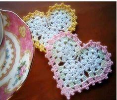 Solo esquemas y diseños de crochet: Corazones.. Free diagrams for making this pretty heart!!