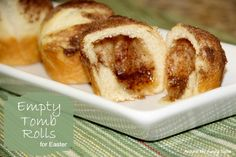 Excited to try this out with the boys this year! Empty Tomb Rolls for Easter.Cute and tells the Easter Story for children and something yummy to eat. Paula Deen, Holiday Treats, Holiday Recipes, Party Treats, Easter Recipes, Dessert Recipes, Empty Tomb, Easter Treats, Easter Food