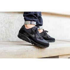 size 40 284ac 37fdf Acheter Chaussures Sport Nike Air Max 90 Essential En Noir France Boutique