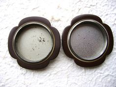 Vintage Japanese Door Pulls Brown Silver Set by VintageFromJapan, $15.00