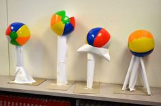 STEM Engineering: Beach Ball Tower Paper Structures