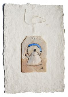 52 WEEKS OF TEA, Ruby Silvious (female, aka silvierub; was born in Tacloban City, Philippines; currently lives in the Hudson Valley, NY) Tea Bag Art, Tea Art, Watercolor Cards, Watercolor Paintings, Watercolors, Used Tea Bags, Recycled Art, Textile Art, Altered Art