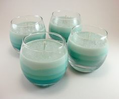 Menachérie: DIY: How to Make Scented Soy Wax Ombre Candles