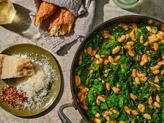 Besides being easy to prepare (not to mention, easy on your grocery budget), Pantry Beans and Greens can be customized for countless hearty, healthy, Healthy Dinner Recipes, Cooking Recipes, Dinners To Make, Fast Dinners, On Repeat, Greens Recipe, Healthy Dishes, Healthy Food, How To Cook Pasta