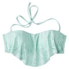 494a4b5339 Xhilaration® Junior's Hanky Swim Top -Seafoam Green Target Bathing Suits, Bathing  Suit Top