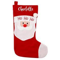 Personalised Christmas Stocking - Santa Santa Christmas, Christmas Stockings, Advent Calendars, Sacks, Small Gifts, Personalized Items, Holiday Decor, Needlepoint Christmas Stockings, Stocking Stuffers